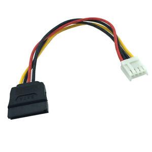 F54 18cm Stromkabel Adapter Floppy 4pin Strom Power Buchse auf SATA 15pin Buchse