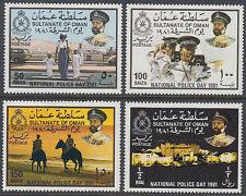 Oman 1981 ** Mi.208/11 Tag der Polizei Police Day Pferde Horses