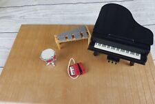 Sylvanian Families Musical Instruments Piano Accordian Xylophone Drum Bundle