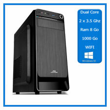 PC de Bureau - 2 x 3.50 Ghz - Ram 8 go - 1000Go - Wifi - Windows 10 - 64bits