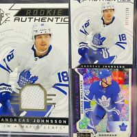 Andreas Johnsson 3 Card Lot🔥Rookie Authentics Jersey Upper Deck OPC Violet