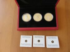 2012 Canada Queen's Diamond Jubilee Set of 3 20$ Silver Coins/COA's SWAROVSKI