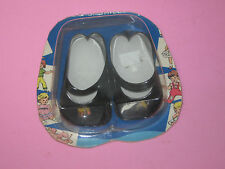 "Vintage Black Shiny Doll Shoes- 1 1/4"" X 2 3/4"""