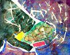 """ORIGINAL ART ABSTRACT PAINTING CONTEMPORARY ART WALL DECOR MODERN ART 10"""" #A017"""