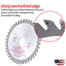 4inches 40T Teeth Cemented Carbide Circular Saw Blade Wood Cutting Tool Bore US