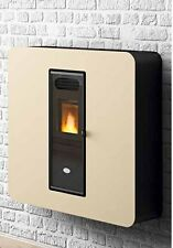 Gaia Stufa a Pellet Slim In Vetro Eva Calor 4KW Stufe a Pellets