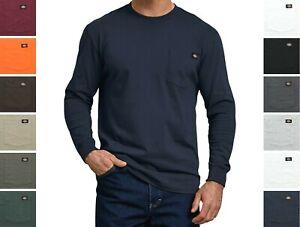 Dickies' Men's Long Sleeve T-Shirt Crew Neck Heavyweight Big & Tall with Pocket