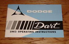 1963 Dodge Dart Owners Operators Manual 63