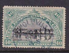 BELGIAN CONGO 1894 ETAT INDEPENDANT DU CONGO 40c BLACK & GREEN VALUE USED SG27