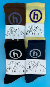 Hidden NY Socks 4 Pack Yellow/Purple, Brown/Purple, Black/White and Teal
