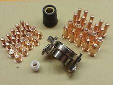 43pc Plasma Cut Tip/Electrode + Roller Guide Wheel Cebora P50 CB50 Plasma Torch
