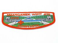 Amangamek Lodge 470 Nation's Capital WWII Memorial OA Boy Scout Flap Patch BSA