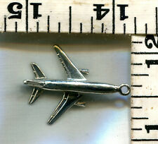 VINTAGE STERLING BRACELET CHARM~GOOD QUALITY AIRPLANE~GREAT AT $12.99!!!