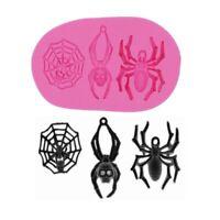 Halloween Skeleton Spider Web Chocolate Mold Baking Tools 9.3*4.9*1.2 cm 1pc