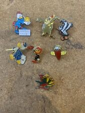 Job lot of 7 Cartoon bird cartoon character metal lapel pin badges