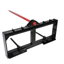 """Hd Frame 49"""" Tractor Hay Spear & 2 Stabilizers Spike Skid Steer 3000lb capacity"""