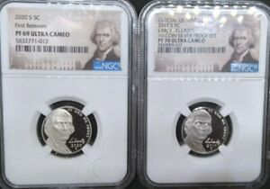 PF 69/PF 70-S 1 First Edition & 1 Early Release  Ultra CAMEO Jefferson Nickle