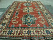 Kazak Caucasion Geometric Veg Dyed Mahal Rug Hand Knotted Carpet (6.2 x 3.10)'