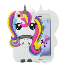 HOT 3D Cute Cartoon Colorful Unicorn Soft Silicone Case Cover For Various Phone