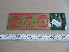 All Night Media Plaid Solid Brass Stencil Embossing Snowman Snowmen 46552