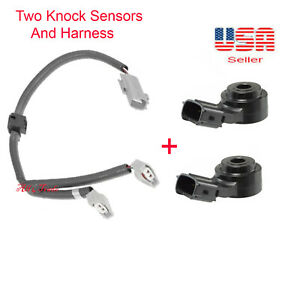 2KNOCK SENSOR with Harness Fit: TOYOTA 3.3L CAMRY HIGHLANDER SIENNA ES330