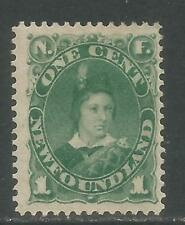 Newfoundland 1880-96 Prince of Wales 1c green--Attractive Topical (45) MH