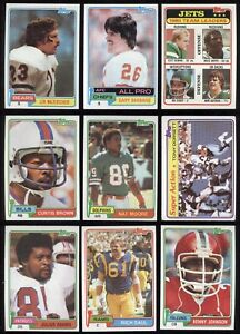 TOPPS 1981 NFL FOOTBALL CARD ROOKIE RC SEE LIST 1 TO 226
