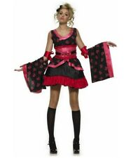 Goth Geisha Age 10-12 Teen Costume Fancy Dress Harajuku Japanese Kimino