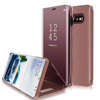 For Samsung S10 Lite/S10 Plus/S10 View Mirror Leather Flip Stand Case Cover