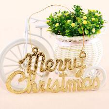 2Pcs Merry Christmas Ornaments Christmas Xmas Tree Holiday Hanging Decoration