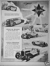 PUBLICITÉ 1927 SPIDO L'HUILE DE SÉCURITÉ QUI NE CHANGE PAS - ADVERTISING