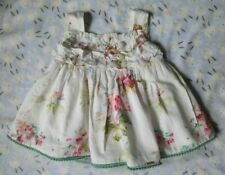 Pretty Girls Baja Costura White Floral Fully Lined Dress Age 2 Years