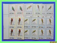 Vietnam Parrots Set 7 Block 4 MNH NGAI