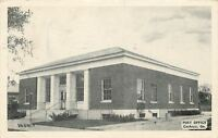 Cochran Georgia~US Post Office~Iron Railings~B&W 1952 Postcard