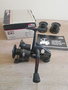 Abu Garcia Cardinal C4X Reel In Near Pristine Condition Boxed With Spare Spools