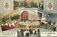 "ROCHESTER NY ""WHITCOMB HOUSE"" MULTI VIEWS POSTCARD"