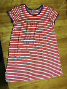 HANNA ANDERSSON GIRLS STRIPED DRESS - SIZE 150 (around US 10) - CUTE!