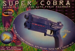 Nyko Super Cobra Light Gun PS1 Great Condition Complete Fast Shipping