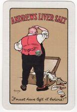 Playing Cards 1 Swap Card Old Vintage ANDREWS LIVER SALT Man Trunk LAWSON WOOD 3