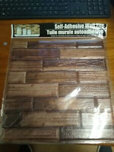 LOT of 5 Sheets Hardware Self Adhesive Brown Wall Tile,not Tile