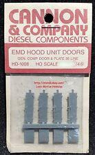 Cannon Co. HD-1008 191-1008  EMD HOOD DOORS SD35 GP35 Gen. Component Door  8-Pcs