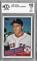 Roger Clemens Graded 1985 Topps Rookie Card Boston Red Sox Graded 10 Mint