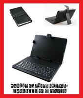 "HOUSSE ETUI CUIR CLAVIER 83 TOUCHES USB TABLETTE PC 10"" POUCES IPAD GALAXY TAB"