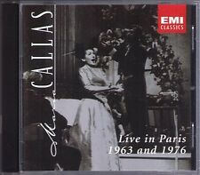 Maria CALLAS Live in Paris 1963 & 1976 Rossini Massenet Puccin PRETRE TATE CD