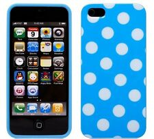 iPhone 5, 5S, or iPhone SE Case Cover - Polka Dot - White on Blue