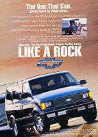 1993 Chevrolet Astro Van - AWD - Classic Vintage Advertisement Ad H12