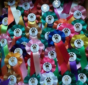Well Done Dog Rosettes x 10 Mini Dog rosettes, parties, Dog Show rosettes