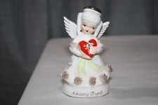 Vintage Napco February Valentine Angel with Heart Candy Box Spaghetti Trim #2