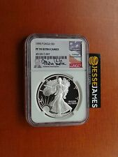 1995 P PROOF SILVER EAGLE NGC PF70 ULTRA CAMEO RARE MIKE CASTLE SIGNED LOW POP!