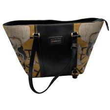 Prison Art Leather Tote Shoulder Bag Gold Black